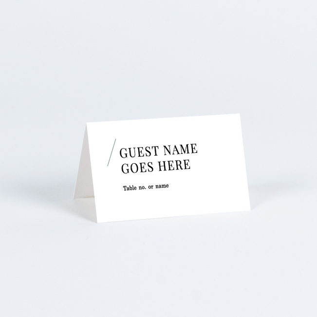 Floral Simplicity Wedding Name Cards & Place Cards - Green
