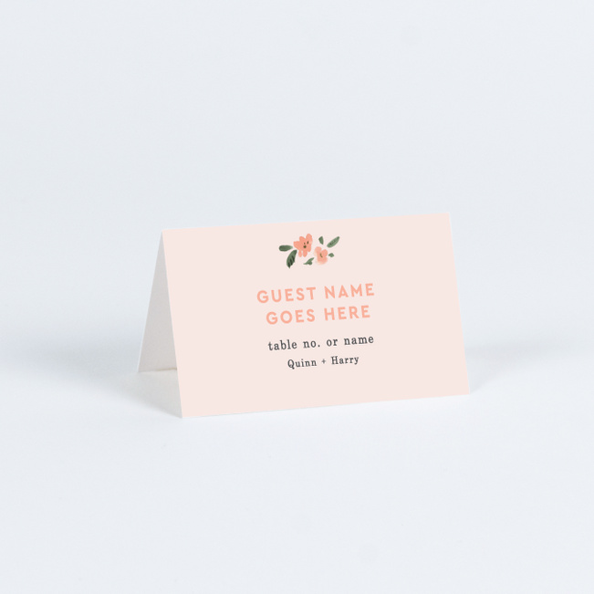 Southwest Vibes Wedding Name Cards & Place Cards - Pink