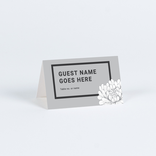 Vintage Contemporary Wedding Name Cards & Place Cards - Gray