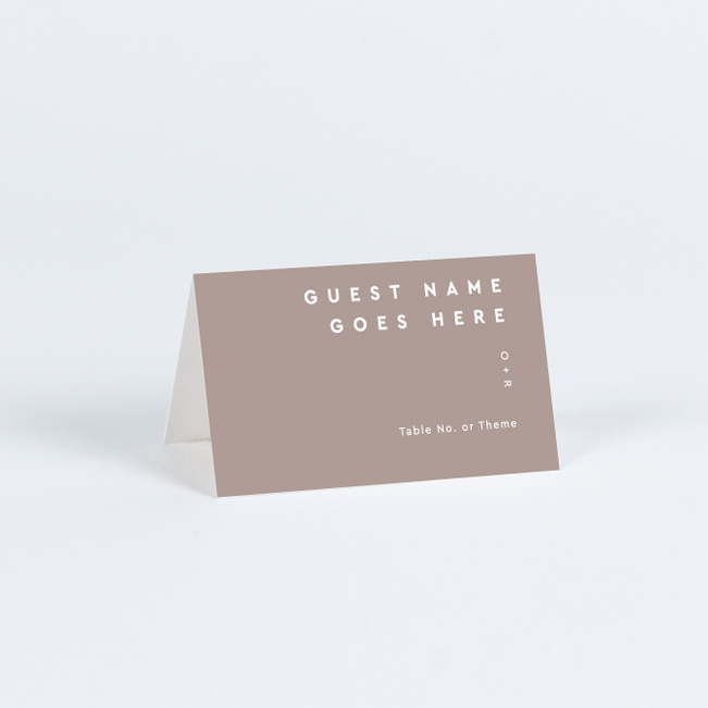All Lined Up Wedding Name Cards & Place Cards - Beige
