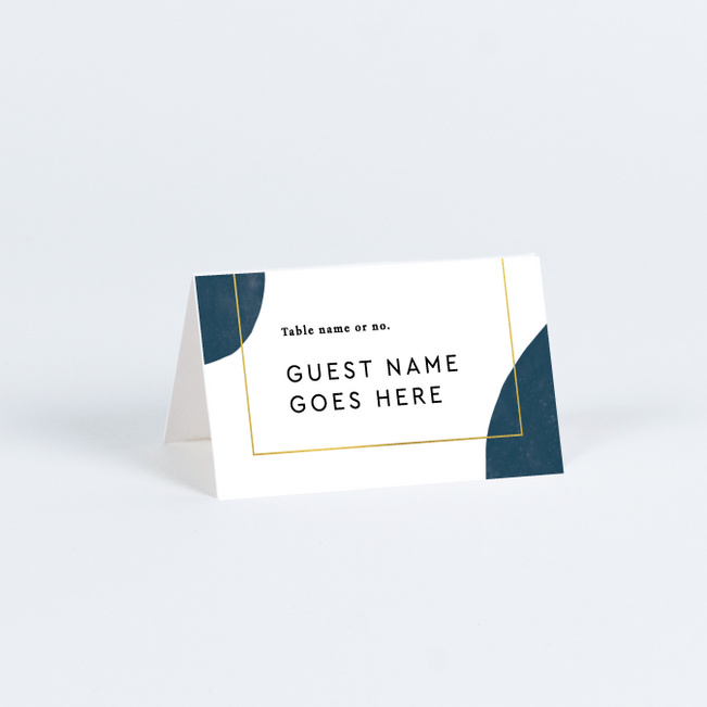 Artistic Spots Wedding Name Cards & Place Cards - Yellow