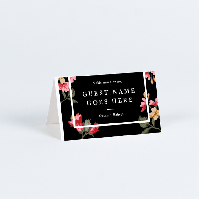 Romantic Garden Wedding Name Cards & Place Cards - Multi