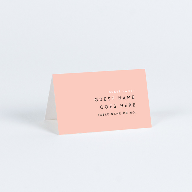 Clean Highlights Wedding Name Cards & Place Cards - Pink