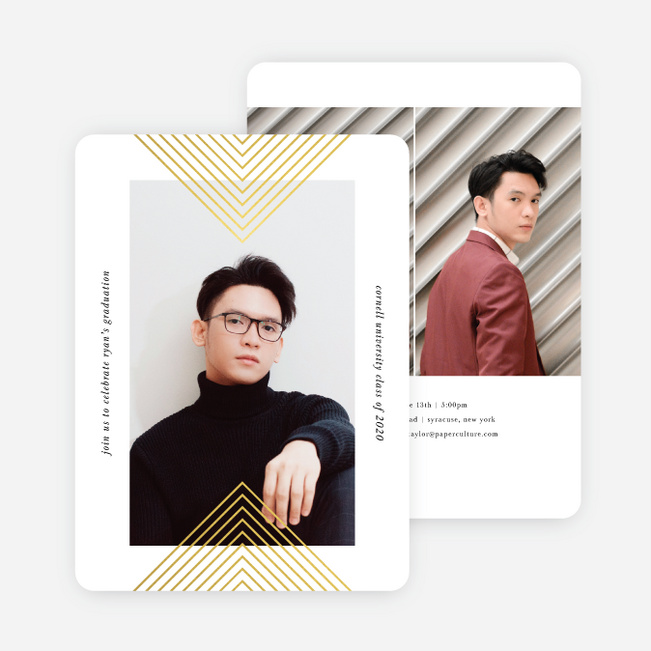 Forward Thinking Graduation Announcements - Yellow
