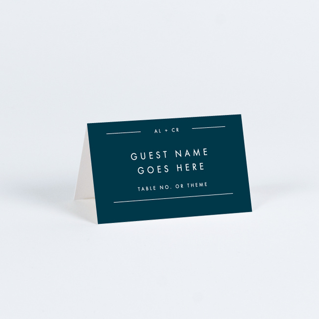 Grand Statement Wedding Name Cards & Place Cards - Blue